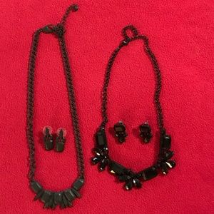Two SEXY & HOT Black Necklaces & Matching Earrings